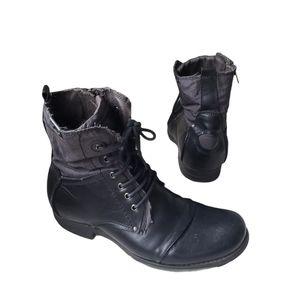 BUNKER  Black Tara Combat Boot Style Size 9.5 Mens